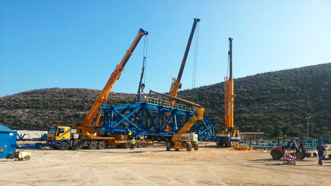 EUROGRUAS participates in the project for the modernization of the power station of Endesa in Carboneras